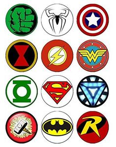 The Avengers Superhero Cupcake Toppers – Tee Cake Decorator Supply Avengers Birthday, Superhero Birthday Party, Batman Party, Boy Birthday, Birthday Parties, Spiderman Cupcake Toppers, Make Your Own Superhero, Superhero Symbols, Chibi Superhero