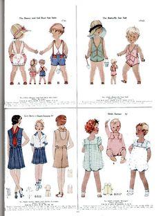 vintage children's clothing patterns summer