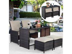 Wicker Furniture Set Patio Poolside Outdoor Durable Lounge Lawn Yard Nice Summer #Patio #patiofurniture #poolside #deck #pooldeck #outdoor #outdoorfurniture #furniture