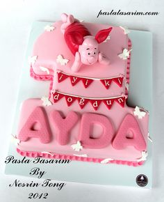 PIGLET CAKE - 1ST BIRTHDAY CAKE  by CAKE BY NESRİN TONG, via Flickr