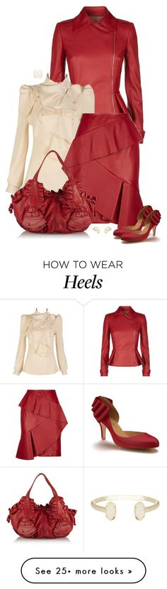 """""""set"""" by vesper1977 on Polyvore featuring Elie Saab, Valentino, Shoes of Prey and Kendra Scott"""