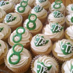 12 CTR Cupcake Topper LDS Baptism Green by ForHeavensCakeUT, $14.00