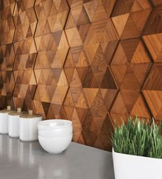 Rhombus Play Rhombus Play Stacked Wood Walls The post Rhombus Play appeared first on Wood Diy. Wooden Wall Tiles, Wooden Wall Design, Wooden Wall Panels, Wooden Wall Decor, Wood Panel Walls, Wooden Walls, Wood Design, Wood Paneling, Wood Accent Walls
