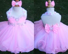 pink cupcake skirt.  bow back babydoll dress.  pageant wear.