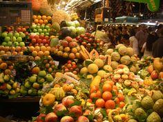 Mercado en Las Ramblas Barcelona