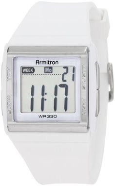 Armitron Women`s 457015WHT Silver-Tone Chronograph White Digital Sport Watch for only $22.49 You save: $7.50 (25%) + Free Shipping