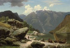 View A conversation by a Norwegian fjord by Georg Eduard Otto Saal on artnet. Browse upcoming and past auction lots by Georg Eduard Otto Saal. Caspar David Friedrich, Amber Tree, Painter Artist, Ludwig, Art For Sale, Landscape Paintings, Oil On Canvas, Auction, Ocean