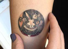 Miniature Circular Tattoos Sceneries