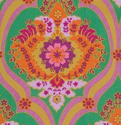 Jennifer Paganelli  CRAZY LOVE Fabric for Free Spirit Pricilla in Green  Half Yard