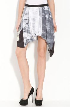 Helmut Lang Parallel Print Skirt: Love the angles..