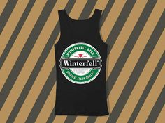 Winterfell Beer Screenprint mens and women tank by everybodystore, $19.00