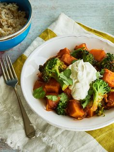 Quick and easy sweet potato curry with broccoli is a midweek saviour.