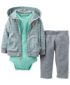 Carter's Baby Boys' 3-Piece Bodysuit, Cardigan & Pants Set