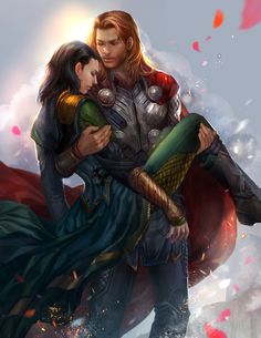 I will carry you home by jiuge on deviantART Yes, Loki and Thor...