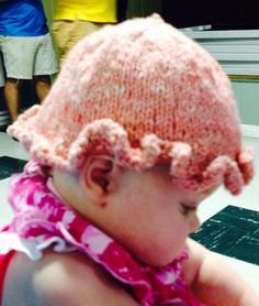 """Baby hat knitted by Margaret from Agnus, my """"Gulflandic"""" sheep (half Gulf Coast, half Icelandic). Shearing and spinning by Wool of Louisiana. Pink color is from dying yarn with red food coloring. Baby Hats Knitting, Knitted Hats, Red Food Coloring, Shearing, Wool Yarn, Louisiana, Pink Color, Spinning, Sheep"""