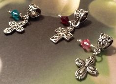 Beautiful Easter Cross Pendant with Swarovski Crystal Charm by GiftsbyLaney