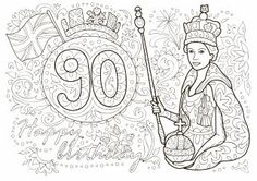 The Queen's Birthday colouring sheets - in case of rain showers like last year Queens Birthday Party, Queen 90th Birthday, Happy 90th Birthday, 90th Birthday Parties, 90 Birthday, Birthday Badge, Birthday Crafts, Birthday Celebration, Royal Familie