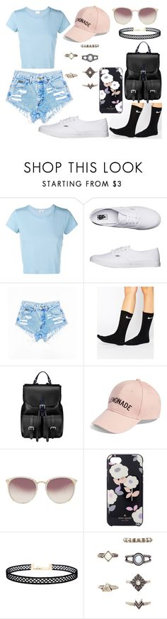 """""""Untitled #459"""" by kora-muffin on Polyvore featuring RE/DONE, Vans, NIKE, Aspinal of London, Amici Accessories, Linda Farrow, Kate Spade and LULUS"""