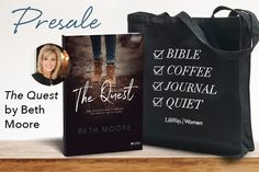 BIG NEWS: As of today, you can preorder Beth Moore's next Bible study The Quest! And when you do, you'll get this super cute tote as a FREE gift! This could be you heading to Bible study: Offer Details: Yes, it's all true! A new study from Beth Moore AND a free gift. Preorder The Quest …