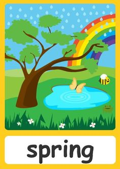 FREE seasons Flashcards For Kindergarten! Teach all four seasons easily with these cute flashcards for children! Now with a FREE season chart! Toddler Learning Activities, Preschool Activities, Kids Learning, Body Preschool, Preschool Weather, Learning English For Kids, Kids English, Seasons Chart, Weather For Kids