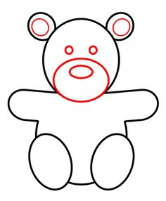 How to draw a teddy bear 5