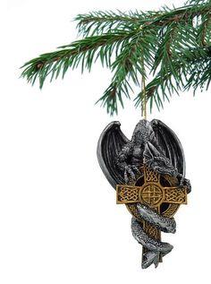 Drachen Christbaumkugel, Keltenkreuz