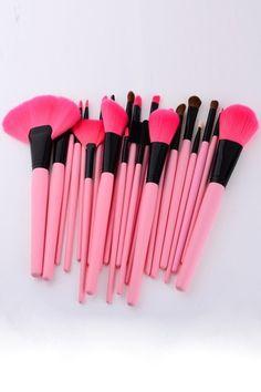 pink brush set <3