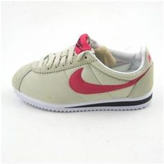 Women Nike Cortez Oxford Cloth Off-White Red Shoes c579ee3ca