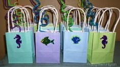 Mermaid under the sea gift bags for a party