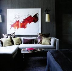 This James Nares painting looks great here!
