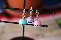 Pastel Pokemon Pokeball Charm Video Game Charm by CafeSweeten