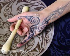 celtic woading on palm
