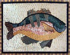 Red Drum a fully handmade mosaic which will craft a welcoming mosaic art tile backsplash in your bathroom. Create a distinctively beautiful outdoor tile art. Mosaic Designs, Mosaic Patterns, Stained Glass Art, Mosaic Glass, Mosaic Animals, Mosaic Madness, Mosaic Projects, Mosaic Crafts, Art Projects