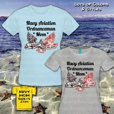 Proud Navy aviation ordnanceman mom shirts by NavyMomShirts.com