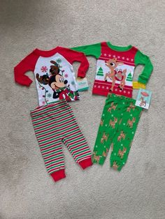 Baby Boy Christmas Pajama Sets on Mercari Boys Christmas Pajamas, Baby Boy Christmas, Christmas Sweaters, Reindeer Ears, Winter Baby Boy, Plus Size Men, Lacy Tops, Baby Mickey, Rudolph The Red