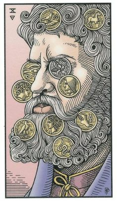 Ten of Coins - Alchemical Renewed Tarot by Robert M. Place, Leisa ReFalo