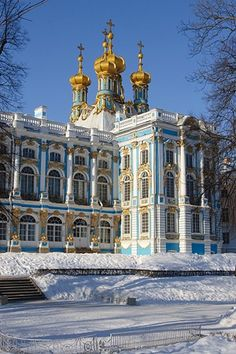 The palace of Catherine the Great,  St. Petersburg, Russia