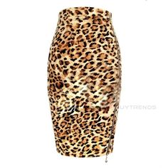 $11.99 BuyTrends Sexy Leopard  Skirts #Fashion #Skirt #Summer