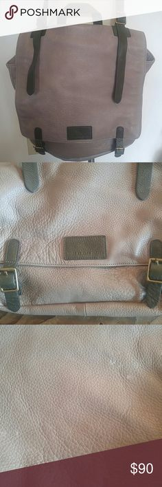 Marc by Marc Jacobs messenger bag 100% lamb skin Marc by Marc Jacobs messenger bag gray and olive green 100% lamb skin. It does have some scuffs on the bag mostly on the back of the bag. The inside looks brand new. Marc by Marc Jacobs Bags Satchels