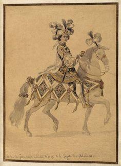 "Jean Berain, Costume study for the ""Caroussel des galants maures"", Versailles 1685/86"