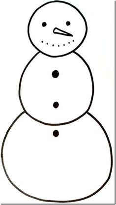 Cotton Ball Snowman Kid Craft WFree Printable Template  Crafts