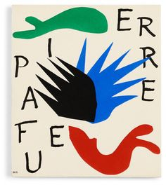 """Henri Matisse, """"Pierre a feu"""" Book with one woodblock print and lithograph, text pages, justification page copy no 473, published..."""