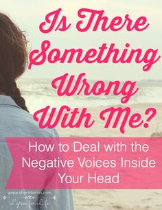 """It's not you, it's me."" Ever thought that you were different from the rest of the world? And not in a good way? Ever wonder if there's something wrong with you? Here's how to deal with those negative voices in your head."