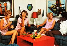 Smoking at their fabulous parties!  by retro-space, via Flickr
