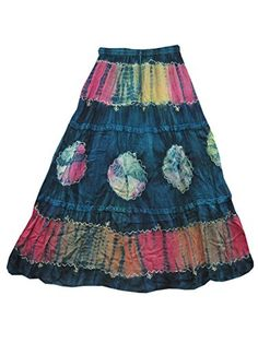 Blue Maxi Skirt Tie Dye Embroidered Stonewashed Rayon Mogul Interior http://www.amazon.com/dp/B00NGLWX6E/ref=cm_sw_r_pi_dp_00Igub1SV0C63