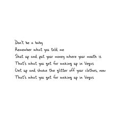 Waking Up in Vegas lyrics by Katy Perry ❤ liked on Polyvore