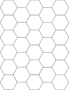 Template for cutting paper piecing hexagons for quilting. These are to a side, and I recomend using medium weight card-stock and punching a hole in the center of each. Imprimibles Baby Shower, Silhouette Cameo, Bee Party, Bee Theme, English Paper Piecing, Digi Stamps, Paper Cutting, Cut Paper, Paper Art