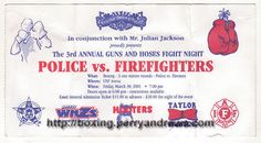 2001 Guns and Hoses Boxing Ticket