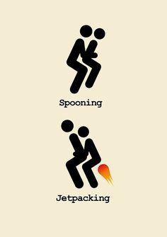 """Spooning and Jetpacking"" Posters by jezkemp 