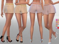 Summer Shorts With Belt by Pinkzombiecupcakes at TSR via Sims 4 Updates